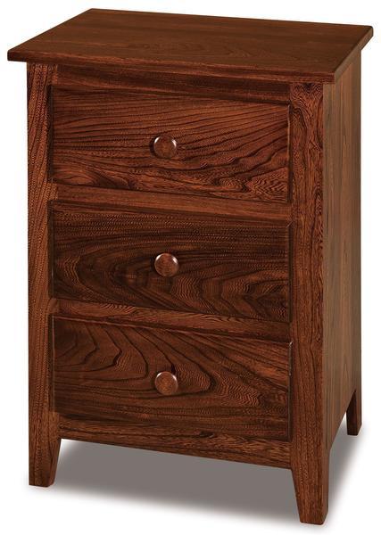 Amish Shaker Small Three Drawer Nightstand