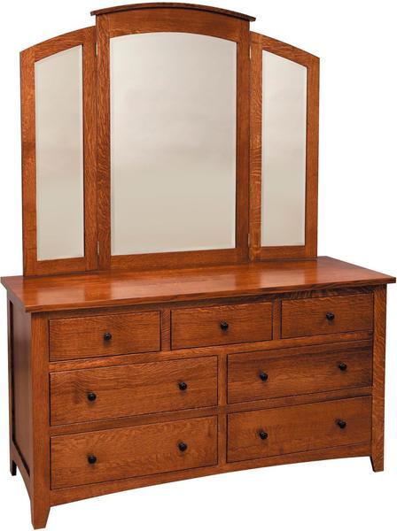 Amish Barrs Mills Mission Dresser with Optional Mirror