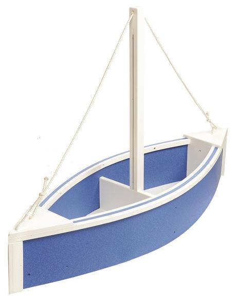 Poly Outdoor Decorative Sailboat Planter