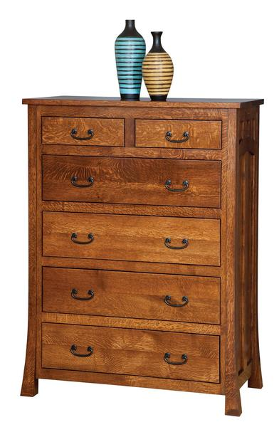 Amish Bridgeport Mission Chest of Drawers