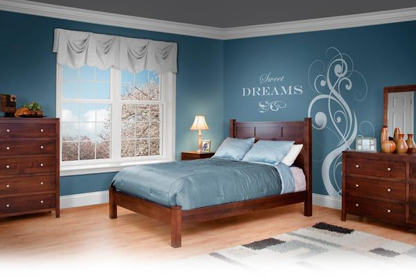 Amish Williamsburg Panel Five Piece Bedroom Set
