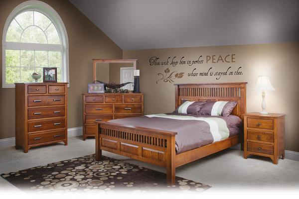 Amish Old World Mission Five Piece Bedroom Set