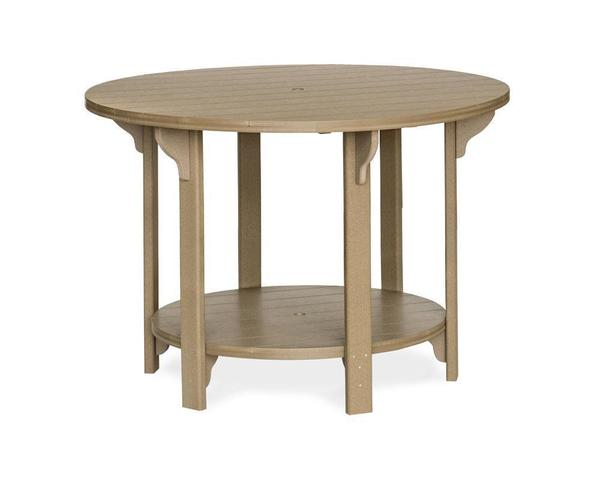 """Amish Outdoor 60"""" Round Poly Bar Table"""