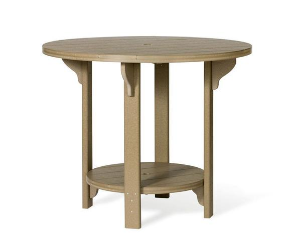 "Amish Outdoor 48"" Round Poly Bar Table"