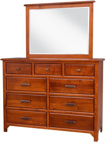 Amish Old World Mission Dresser with Optional Mirror