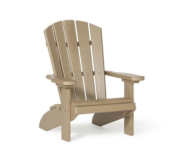 Amish Leisure Lawns Poly Kid's Fan-Back Adirondack Chair