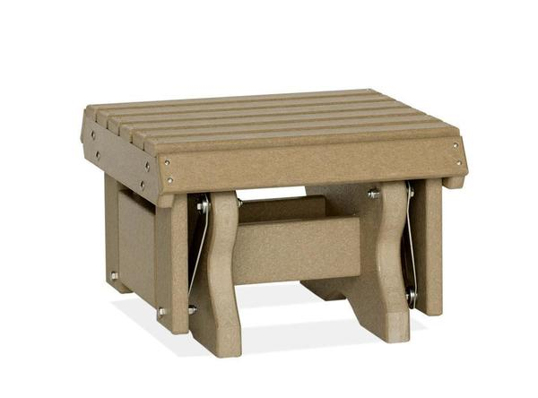 Amish Leisure Lawns Poly Outdoor Gliding Footstool
