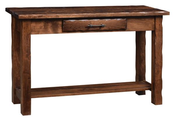 Amish Hand Hewn Sofa Table