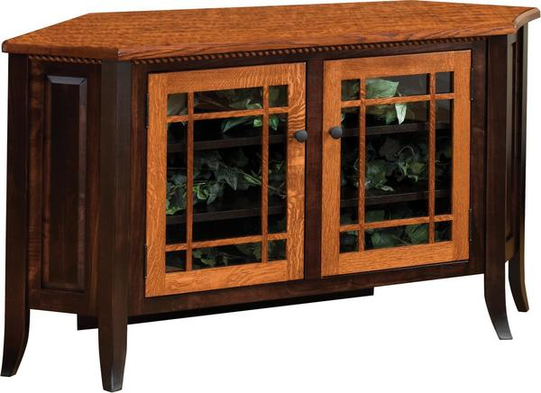 Amish Bunker Hill Corner 2-Tone TV Stand