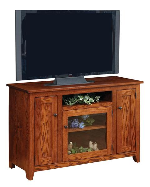 Amish Modern Mission Flat Wall TV Stand