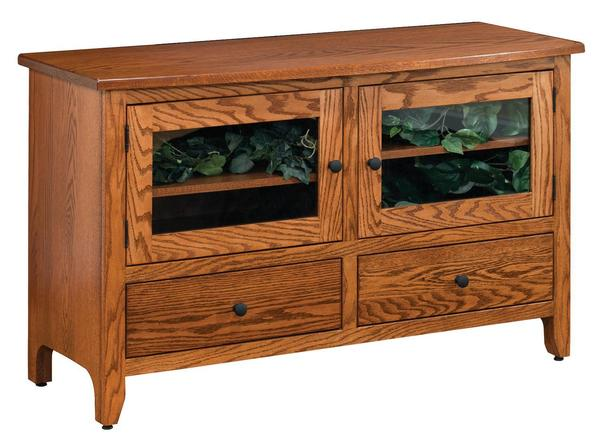 Amish Shaker Flat Wall TV Stand
