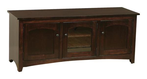Amish Modern Shaker Flat Wall TV Stand