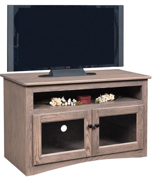 Amish Economy Flat Wall TV Stand