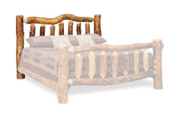 Rustic Log Bed Headboard