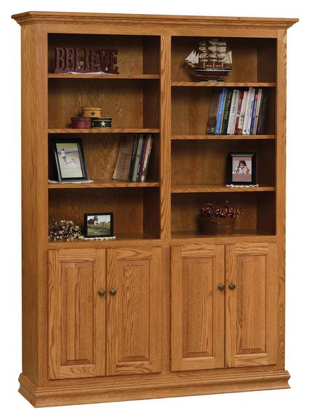 "Amish 48"" Traditional Bookcase with Optional Doors"
