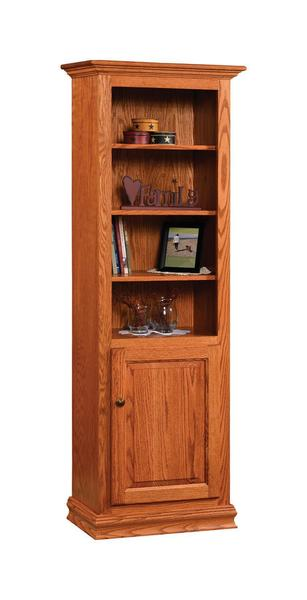 "Amish 24"" Traditional Bookcase with Optional Doors"
