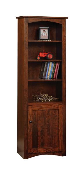 "Amish 24"" Shaker Bookcase with Optional Doors"