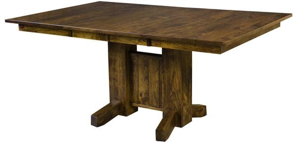 Amish San Juan Rustic Cherry Extendable Table