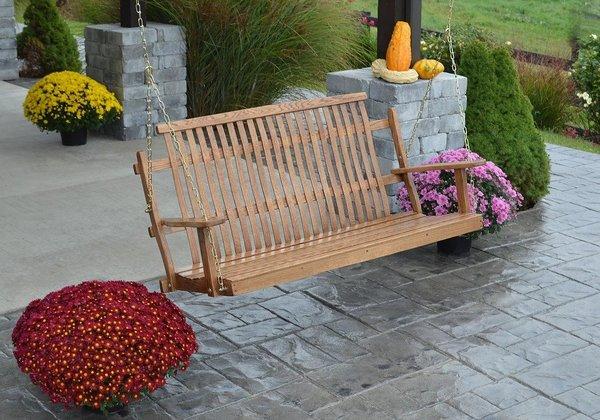 Amish Bent Oak Porch Swing