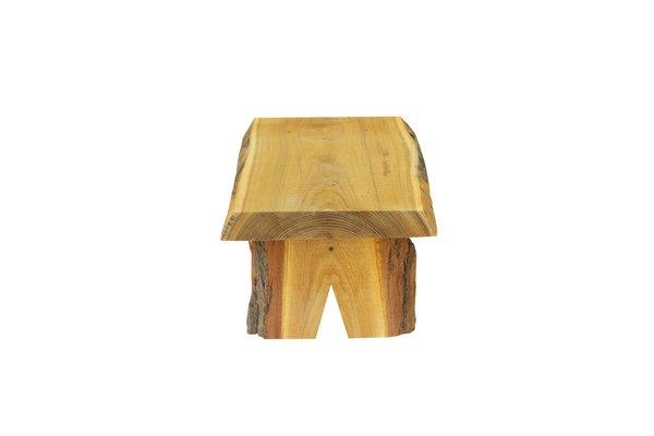 Amish Live Edge Rustic Log Low Bench