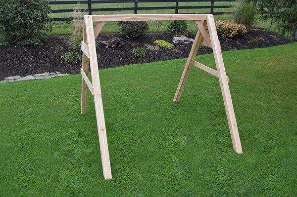 Amish Cedar Wood A-Frame Swing Stand