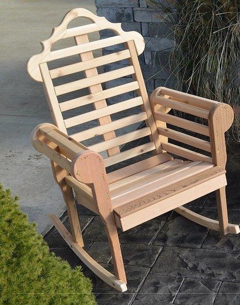 Amish Cedar Wood Chester Porch Rocker Chair