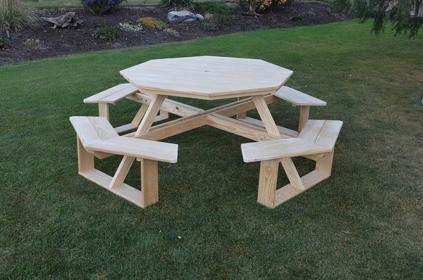 Pressure Treated Pine Wood Octagon WalkIn Table From - Walk in picnic table