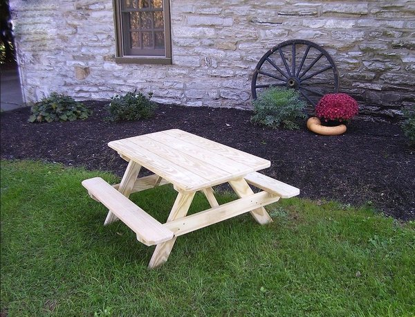 Ask us a Question. Amish Pressure Treated Pine Wood Kids Picnic Table - Pressure Treated Pine Wood Kids Table From DutchCrafters Amish