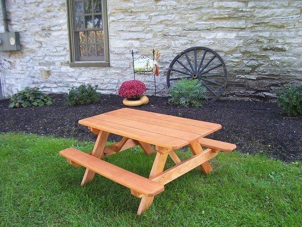 Amish Pressure Treated Pine Wood Kids Picnic Table