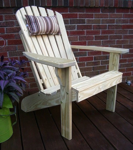 Amish Backyard Pine Wood Fanback Adirondack Chair