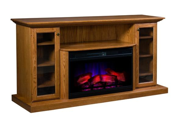 "Amish 70"" Electric Fireplace Entertainment Center"