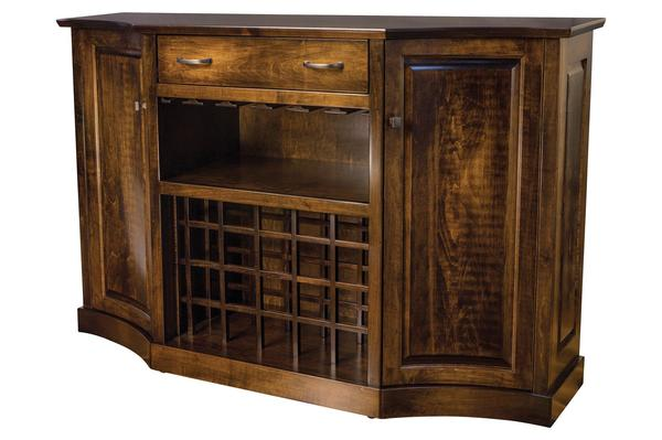 Amish Kimberly Bar and Wine Cabinet