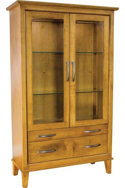 Amish Manhattan Display Cabinet