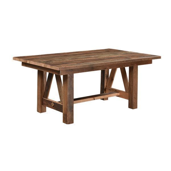 Vienna Reclaimed Barn Wood Solid Top Dining Table