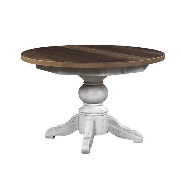 Kowan Reclaimed Barn Wood Pedestal Extension Table