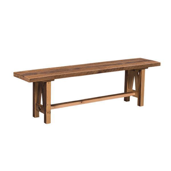 Superb Amish Buxton Barn Wood Dining Bench Ibusinesslaw Wood Chair Design Ideas Ibusinesslaworg