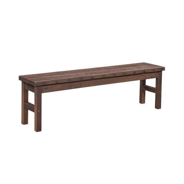 Amish Reclaimed Barn Wood Oxford Bench