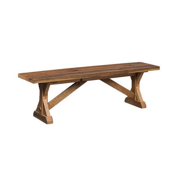 Amish Reclaimed Barn Wood Stretford Bench