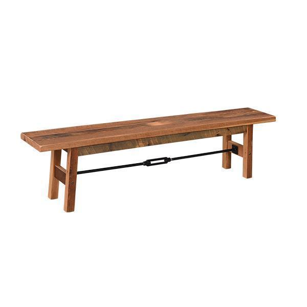 Amish Reclaimed Barn Wood Cleveland Bench