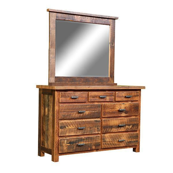 Reclaimed Barnwood Chevron Dresser with Optional Mirror