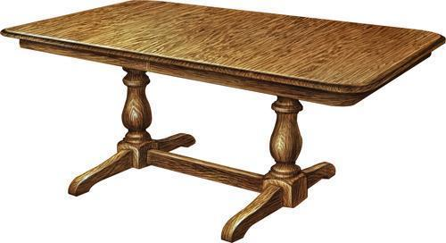 Amish Boston Double Pedestal Table