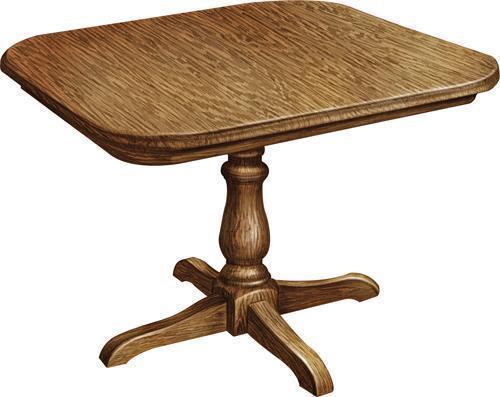 Amish Boston Single Pedestal Table