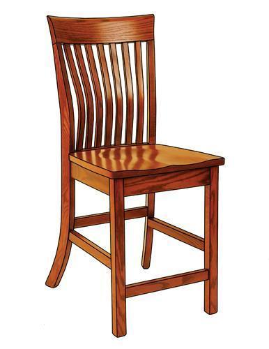 Amish Christy Counter Chair