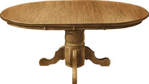 Amish Adams Single Pedestal Dining Table