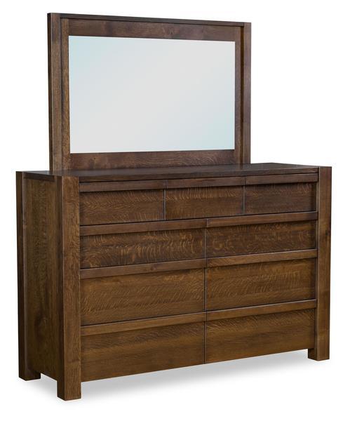 Amish Vallejo 9-Drawer Dresser with Optional Mirror