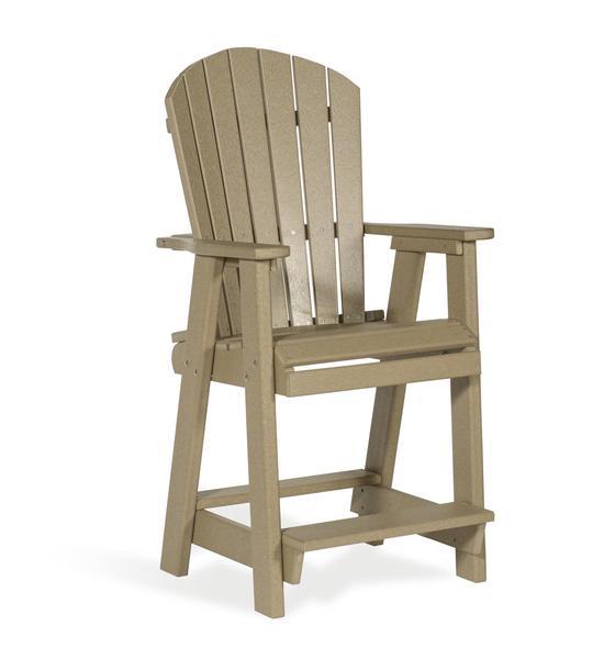 Amish Poly Balcony Pub Chair