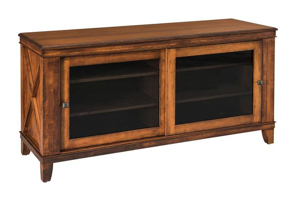 Amish Newport TV Cabinet without Drawers