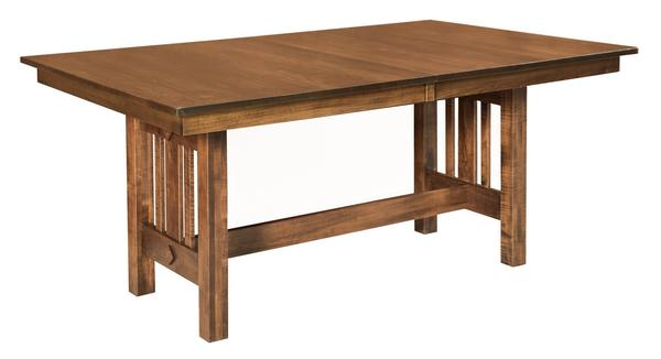 Amish Eco Mission Trestle Dining Table
