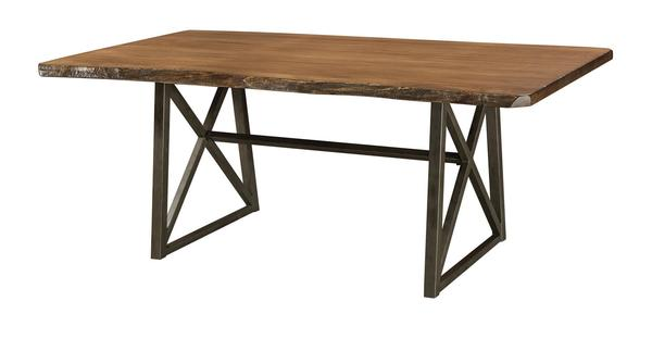 Amish Yukon Trestle Dining Room Table