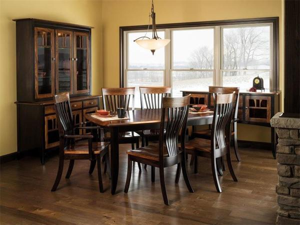 Amish Christy Extension Dining Room Quick Ship Set